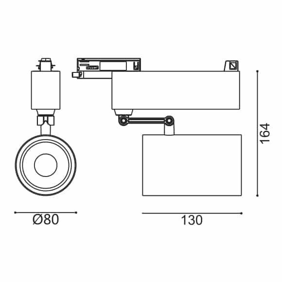 LED Track Light - FS4039-30 - Dia