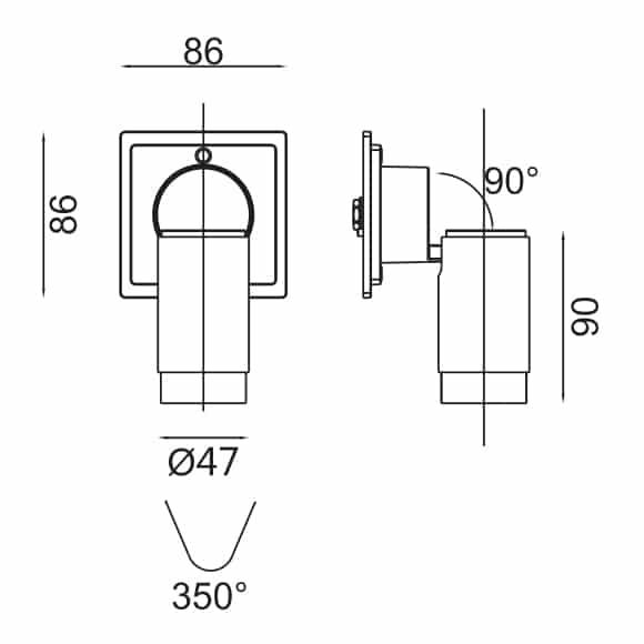 LED Wall Lamp - FS1080-06 - Dia