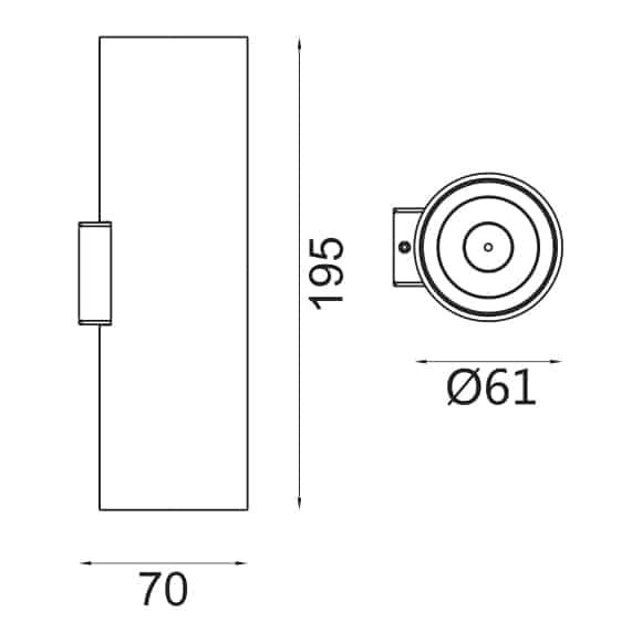 LED Wall Lamp - FS1084-06 - Dia