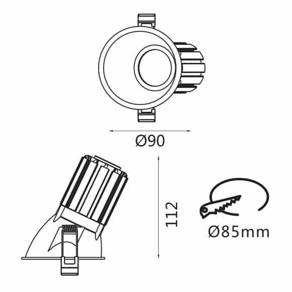 LED Wall Wash Lights - FS1065 - Dia