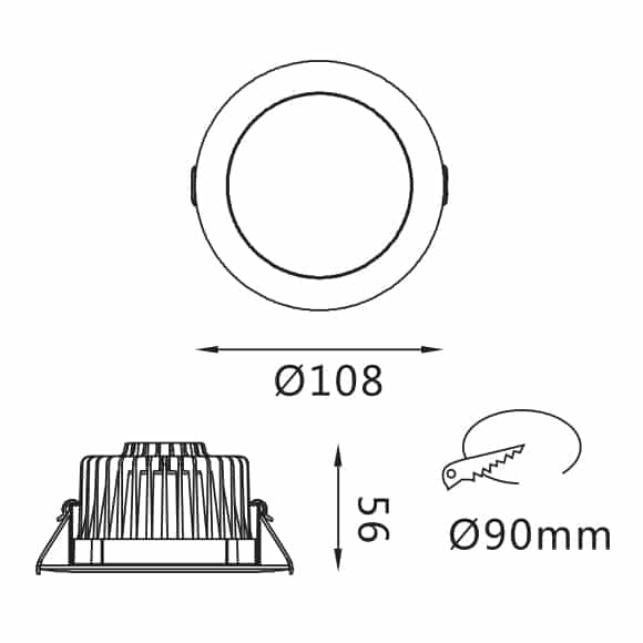 SMD Down Light - FS3020-10 - Dia