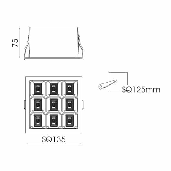 LED Ceiling Doen Light - FS5206-40 - Dia