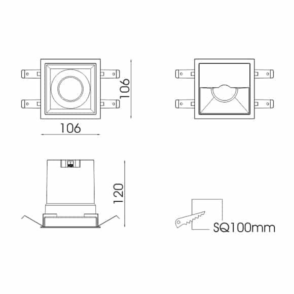 LED Ceiling Down Light - FS5207A - Dia