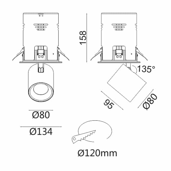 LED Ceiling Downlight - FS1064-15 - Dia