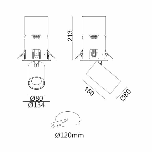 LED Ceiling Downlight - FS1064-30 - Dia