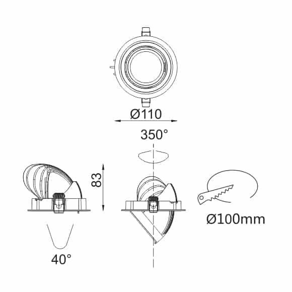 LED Ceiling Downlight - FS1073-15 - Dia