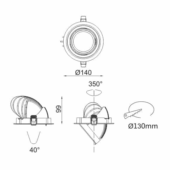 LED Ceiling Downlight - FS1074-20 - Dia