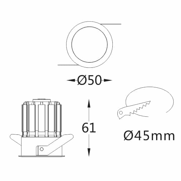 LED Ceiling Downlights - FS1012-05 - Dia
