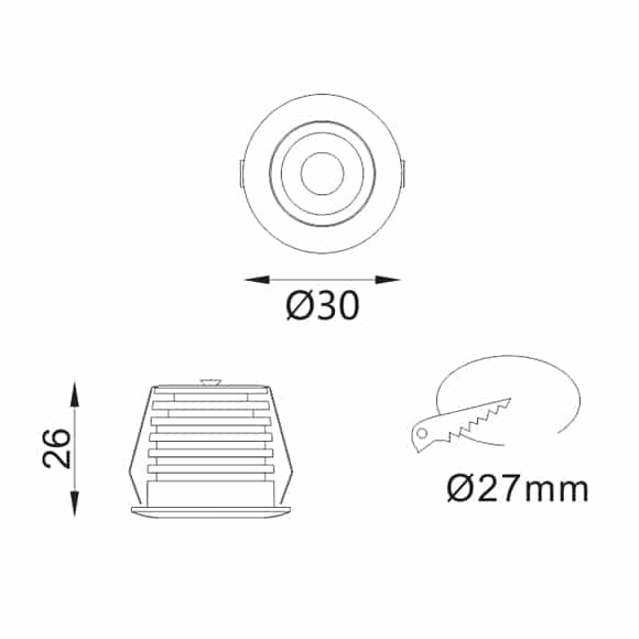 LED Ceiling Downlights - FS1076-02 - Dia