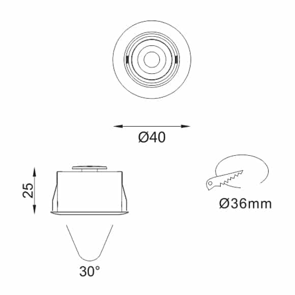 LED Ceiling Downlights - FS1077-02 - Dia