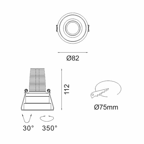 LED Ceiling Downlights - FS1083-13 - Dia