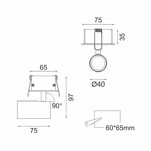 LED Ceiling Downlights - FS4034-06 - Dia