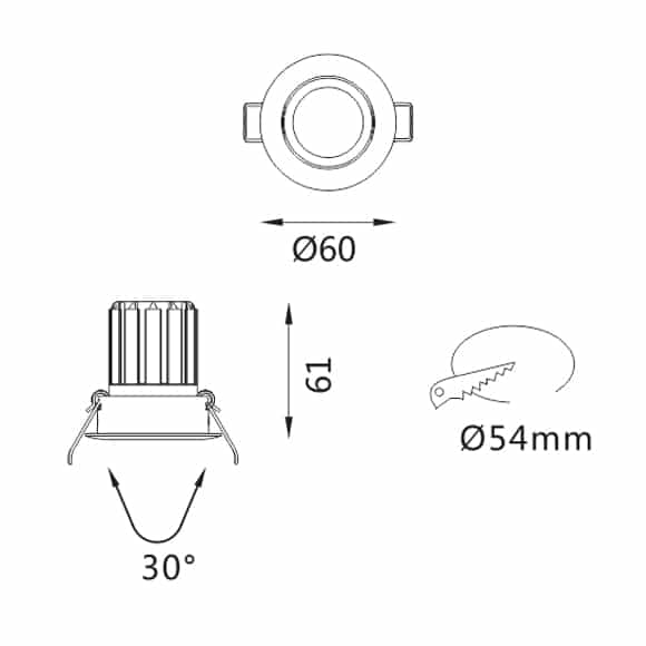 LED Ceiling Downlights - FS5040-05 - Dia