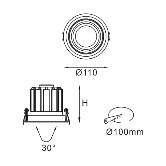 LED Ceiling Downlights - FS5041-15 - Dia