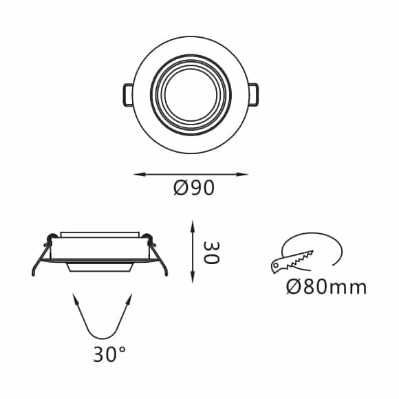 LED Ceiling Downlights - FS5053-05 - Dia