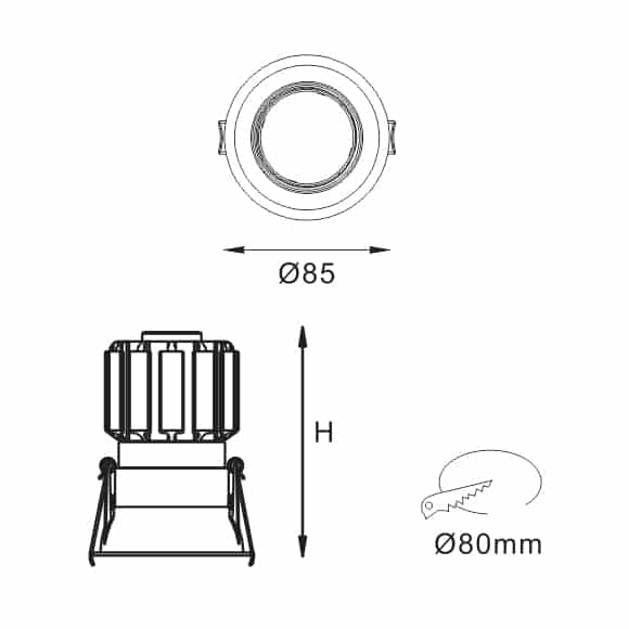LED Ceiling Downlights - FS5071 - Dia