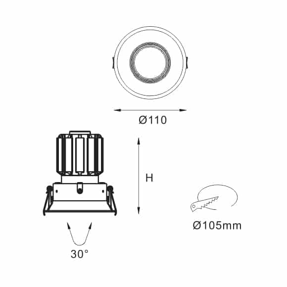 LED Ceiling Downlights - FS5073 - Dia