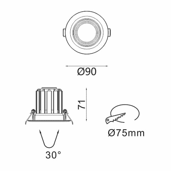 LED Ceiling Downlights - FS5103-09 - Dia