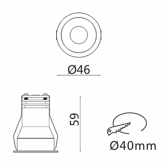 LED Ceiling Downlights - FS5201-05 - Dia
