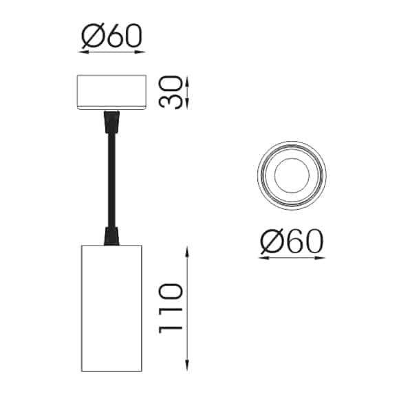 LED Pendant Lights -FS3040A-10 - Dia