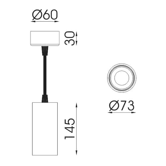 LED Pendant Lights - FS3040A-24 - Dia