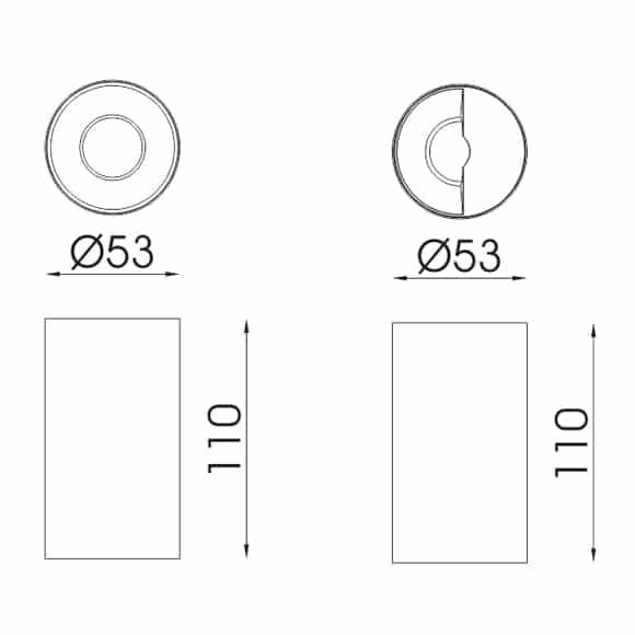 LED Surface Lights - FS3040-10 - Dia