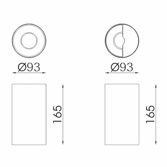 LED Surface Lights - FS3040-35 - Dia