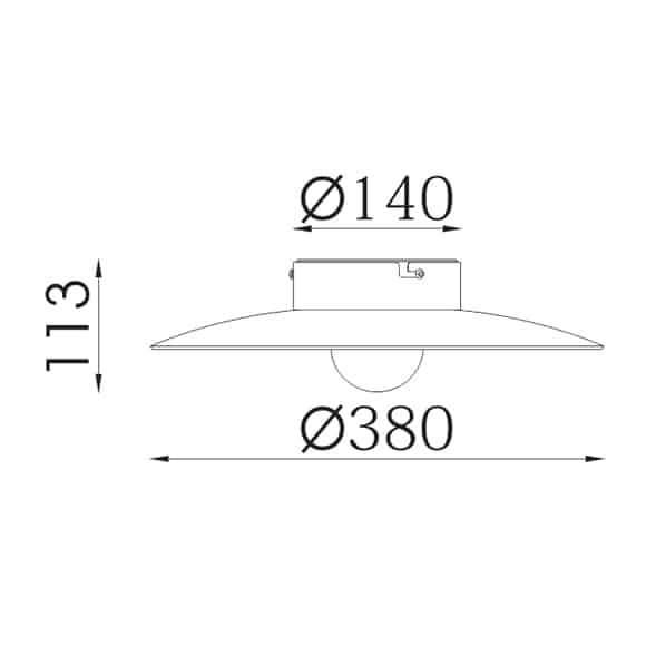 LED Surface Mounted Light - FS2001Z-12 - Dia