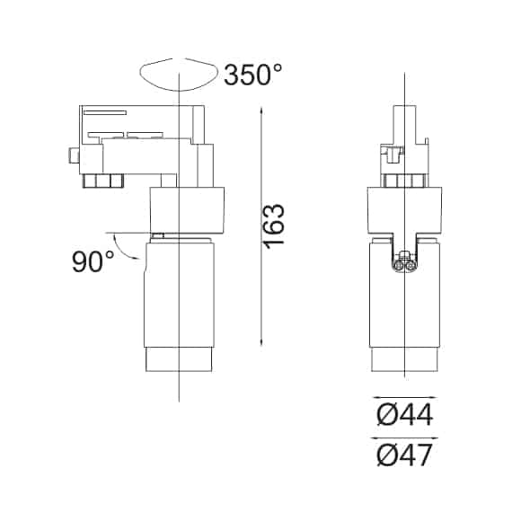 LED Track Light - FS1080A-06 - Dia