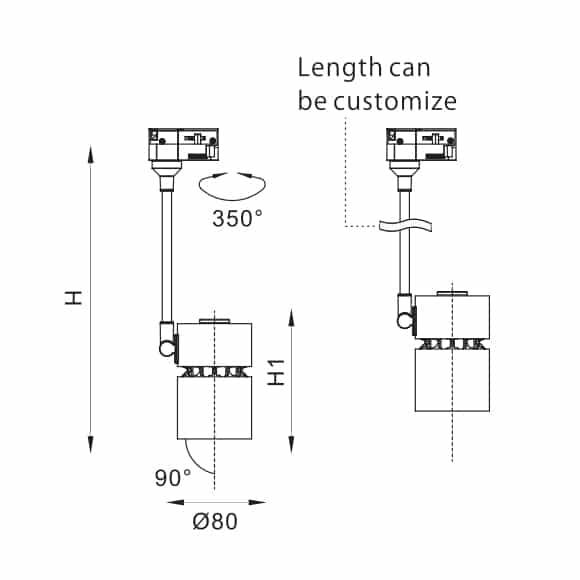 LED Track Light - FS4010E - Dia
