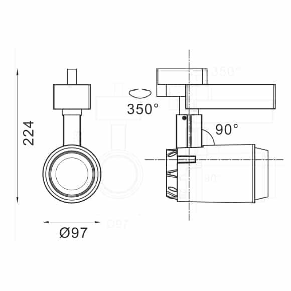 LED Track Light - FS4012-30 - Dia