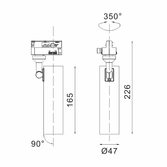 LED Track Light - FS4019-15 - Dia