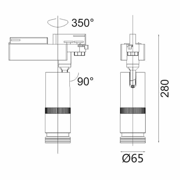 LED Track Light - FS4020-20 - Dia