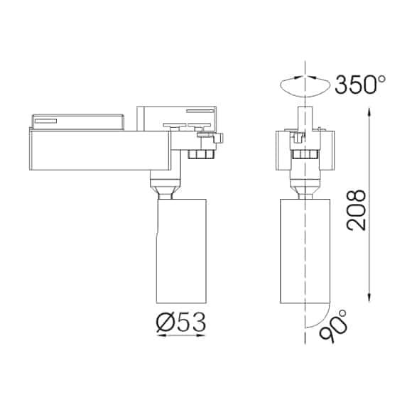 LED Track Lights - FS4045-10 - Dia