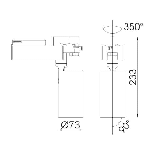 LED Track Lights - FS4045-24 - Dia