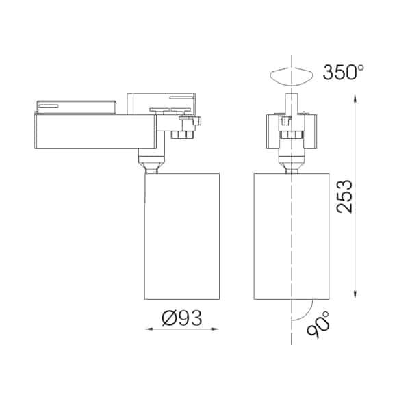 LED Track Lights - FS4045-35 - Dia