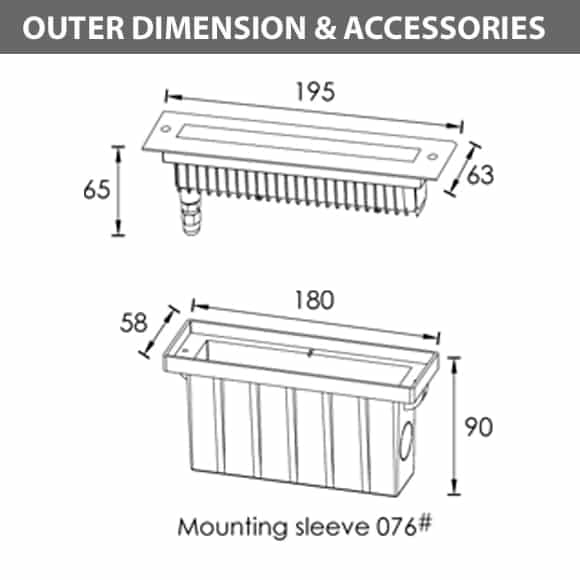 In-ground Wall washer - S2FL0357 Dia