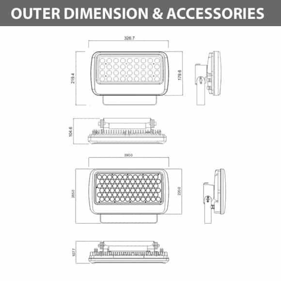 Outdoor LED Flood Light - JRF1-L-Dia